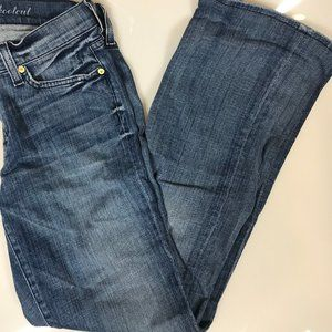 7 FOR ALL MANKIND boot cut jeans (size 29)
